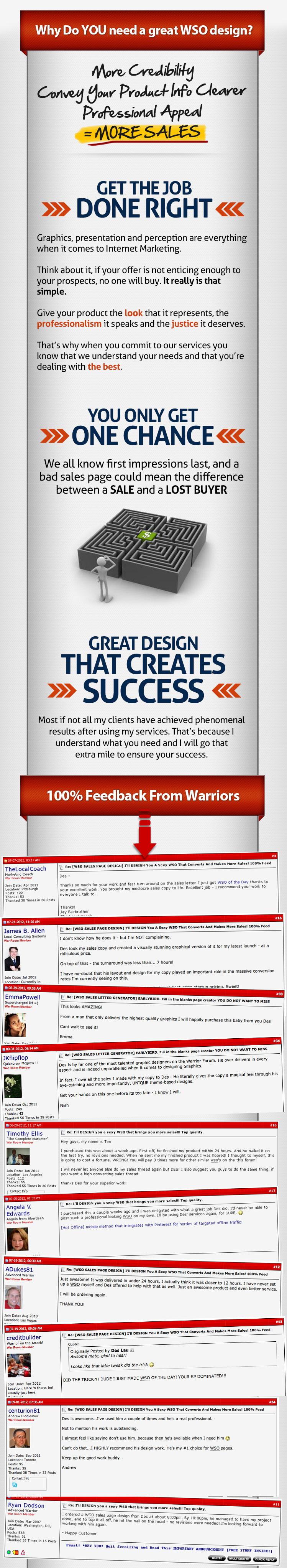 Wso sales page design weve designed over 20 wsootd potd wso of the day pro video blueprint httpwarriorforumwarrior u can tooml spiritdancerdesigns Choice Image